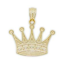 Gold Crown Charm, 14k Solid Gold