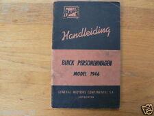 BUICK MODEL 1946 HANDLEIDING DUTCH,MANAUL,HANDBUCH