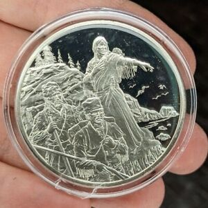 THE MEDALLIC HISTORY OF THE AMERICAN INDIAN FRANKLIN MINT 1 OZ STERLING SILVER~L