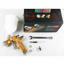 DeVilbiss GTI Pro Lite 1.3mm TE20 Gold Nozzle Tool Pistol Spray Gun Paint Cars