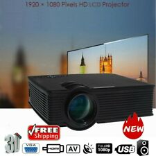 5000 Lumen Full HD 1080P LED 3D LCD VGA HDMI TV Home Theater Projector Cinema DK