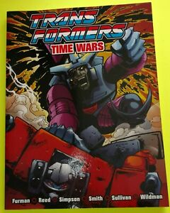 TRANSFOMERS : TIME WARS SC BOOK, COLOR, COLLECTS RARE BRITISH STORIES ,SCARCE