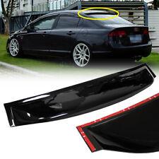 Rear Window Roof Vent Visor Spoiler Wing For For 2006-2011 Honda Civic 4DR Sedan