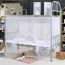 4 Corner Post Bed Canopy Mosquito Net Full Queen King Romantic White Bedding