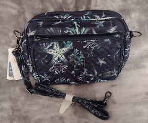 Lug Carousel XL Crossbody Bag- Stars & Shells Navy - NWT