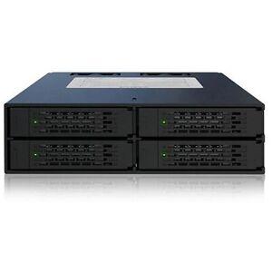 Icy Dock MB994SP-4S Storage Bay Adapter - Internal - Matt Black - 4 x Total Bay