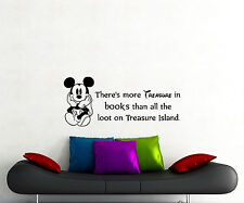 Disney Quote Wall Decal There Is More Treasure Mickey Mouse Vinyl Sticker 111ct