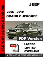 JEEP GRAND CHEROKEE 2005 2006 2007 2008 2009 2010 SERVICE REPAIR WORKSHOP MANUAL