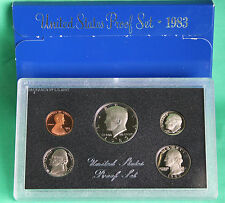 1983 United States Mint Annual 5 Coin Proof Set with Original Box