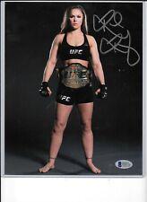 RHONDA ROUSEY AUTO AUTOGRAPH 8 X 10 PHOTO UFC BAS BECKETT CERT