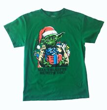 Star Wars Yoda May The Gifts Be With You Graphic Shirt Size M Green Christmas