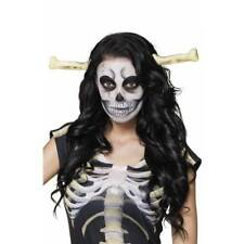 Bone Thru Head Skeleton Cavewoman Halloween Fancy Dress