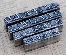 Alphabet Bleilettern Vintage Stempel Lettern Initiale Druckbuchstabe shabby ABC