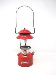 1973 Coleman 200a RED Single Mantle Lantern 2/73 No Globe