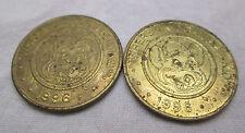 Vtg 1996 Chuck E Cheese Lot of 2 Token Coin Collectible Where A Kid Can Be A Kid