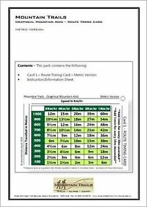 Mountain Trails Route Timing Card - NNAS, ML, DoE etc. - Best available on eBay