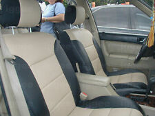 VOLVO S60 2001-2008 IGGEE S.LEATHER CUSTOM FIT SEAT COVER 13 COLORS AVAILABLE