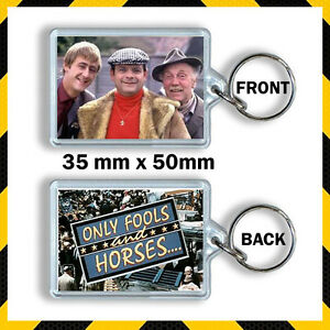 ONLY FOOLS AND HORSE DEL BOY RODNEY AND GRANDAD -  KEYRING 35MMX50MM