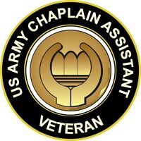"""Army Chaplain Assistant Veteran 5.5"""" Sticker / Decal"""