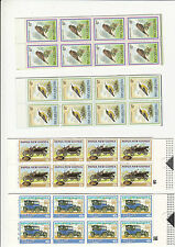 Stamps Papua New Guinea group of 4 complete booklets 6K & 9K birds 2 x cars