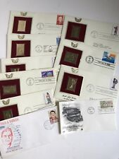 Lot Golden Replicas Of US Stamps 22KT plated & Some First Day Issues Vintage