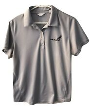 Callaway Golf Polo Collar Mack Truck Dog Logo Knit S/S Top Shirt L Large Womens