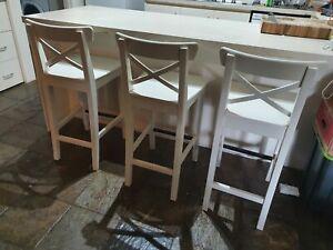 IKEA Ingolf bar stool (set of 3)
