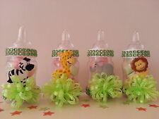 12 Fillable Bottles Baby Shower Favors Prizes Games Safari Jungle Noah's Animals