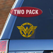 "Wonder Woman - 6"" Metallic Gold Vinyl Decal - Two Pack"