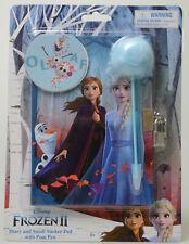 Disney Frozen Diary w/ Lock Key Blue Fuzzy Pen Ages 3+ Elsa Anna Gift NEW