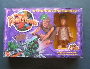 The Flintstones--1993 Dyno-Drilling Barney--Mattel