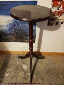 Vintage 3 foot Solid Wood Pedestal Display Plant Stand