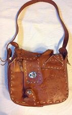 Vintage Hand Tooled Leather Saddle Bag/Purse Mexico