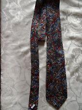 Lovely blue,burgundy,grey patterned polyester Burton tie