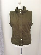 Ness UK 14 Olive Green Gilet Body Warmer Autumn Winter