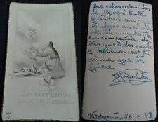 ESTAMPA HOLY CARD VIRGEN MARIA Y ESPIRITU SANTO 1943 VALDEPEÑAS SANTINI   CC1467