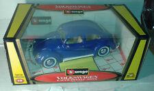 vw volkswagen coccinelle 1/18 burago 1955 bleu neuf  beetle maggiolino Käfer cox
