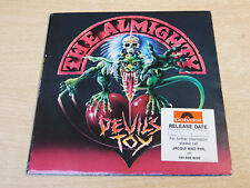 """EX/EX !! The Almighty/Devil's Toy/1991 Polydor 7"""" Single"""