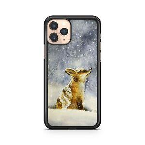 Adorable Cuddly Fox Calf Animal Luscious Snowfall Winter Season Phone Case Cover