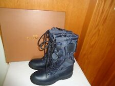 NIB Coach Sage Women's Lace Up Winter Snow Boots Black Size 6 NEW