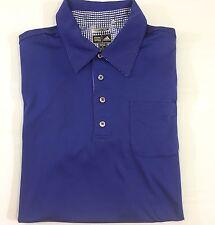 Adidas ClimaCool Short Sleeve Polo Golf Shirt Size S Blue