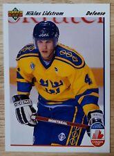 Niklas Lidstrom 1991-92 Upper Deck NHL Hockey Rookie #26 Red Wings HOF