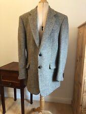 """Harris Tweed Mens Jacket 42"""" Long Brown / Grey Barva Colour Single Breasted"""