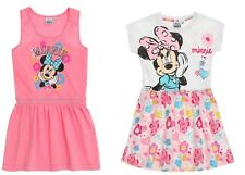 Children Mini Dress Tunic Girl Minnie Mouse Dress White Pink 104 - 140 #810