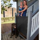 """Perma Indoor/Outdoor Retractable Pet Baby Gate 33"""" Tall 71"""" Wide Black -Open Box"""