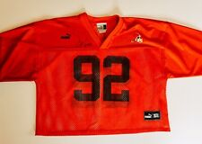 Vintage Puma Courtney Brown #92 Cleveland Browns XL Mesh Cut Off Jersey Signed