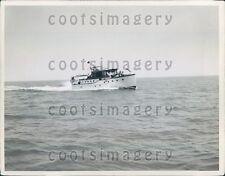 Vintage Pleasure Craft Cruiser Boat Off Atlantic City Press Photo