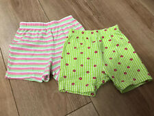 Baby Girls Shorts. 2 Pairs. Size 9-12 Months. Next And George