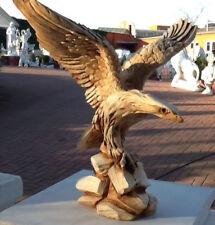 Gartenfigur, Adlerfigur H.33 cm Steinguss, Adler, Vögel, Tierfigur, Gartendeko,