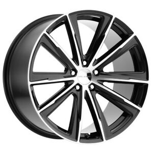 "Milanni 471 Splinter 22x10.5 5x4.5"" +42mm Black/Machined Wheel Rim 22"" Inch"